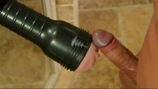 Watch FleshFucker sperm up his flashlight!